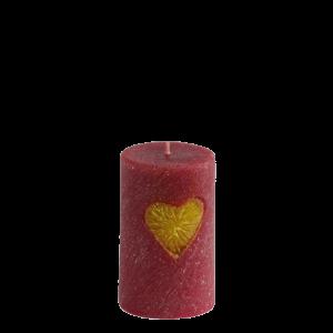 Ароматна свещ Любов цилиндър сърце червен