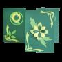 Картичка зелено цвете 3