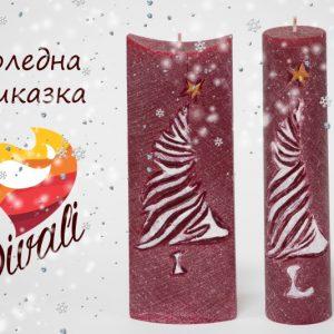 Коледна украса с коледни свещи Дивали Арт