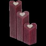 сет свещи червени сърца