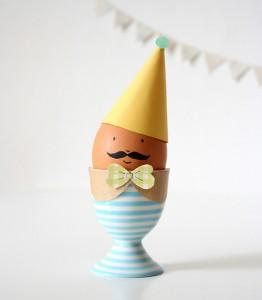 Великденско яйце с шапка