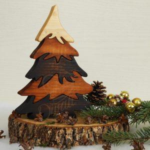 Коледна елха от дърво за украса на дома