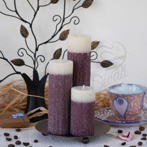 Комплект свещи с аромат на шоколад за дома или за подарък