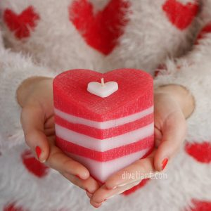 Ароматна свещ сърце
