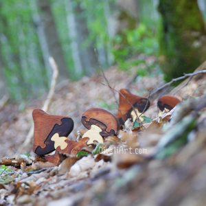 Дървен пъзел- Гъби