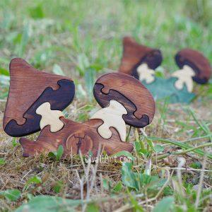 Дървен пъзел Гъби