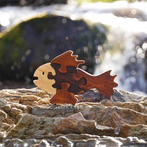 Дървен Пъзел Рибка