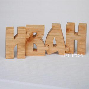 дървено име пъзел Иван