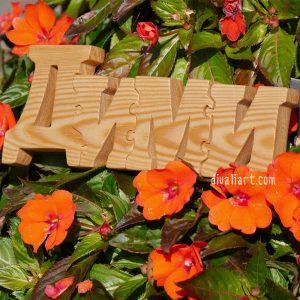 дървено име пъзел Дими
