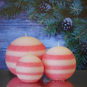 "KeditopkiСет Коледни свещ ""Захарен Памук"""